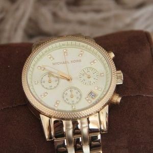 NEW Michael Kors Gold-Tone Watch with Quartz
